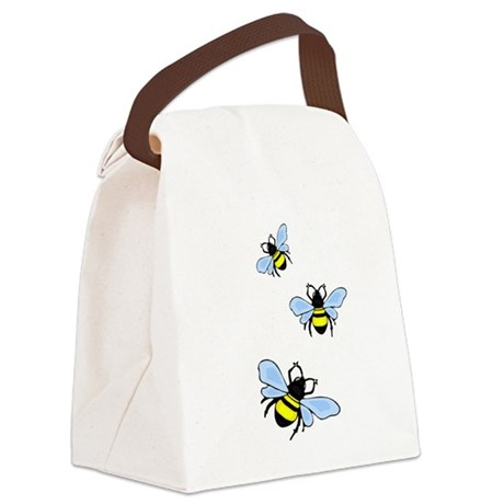 bee1.png Canvas Lunch Bag