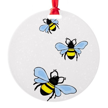 bee1.png Round Ornament
