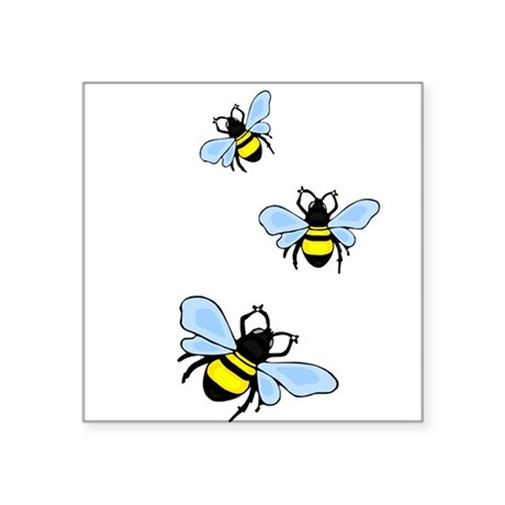 "bee1.png Square Sticker 3"" x 3"""