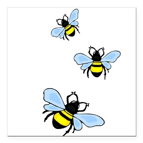 "bee1.png Square Car Magnet 3"" x 3"""