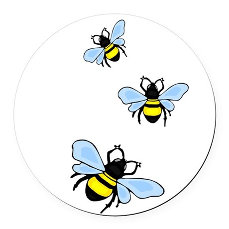 bee1.png Round Car Magnet