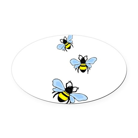bee1.png Oval Car Magnet