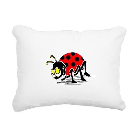ladybug5.png Rectangular Canvas Pillow