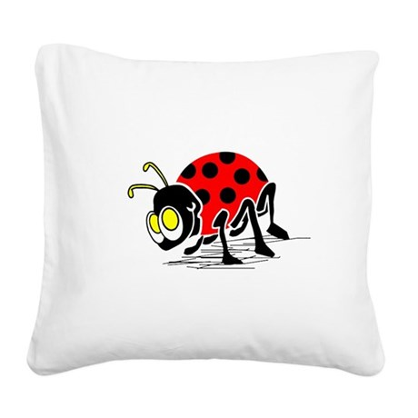 ladybug5.png Square Canvas Pillow