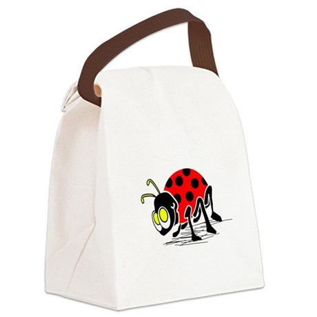 ladybug5.png Canvas Lunch Bag