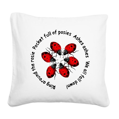 ladybug4b.png Square Canvas Pillow