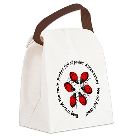 ladybug4b.png Canvas Lunch Bag