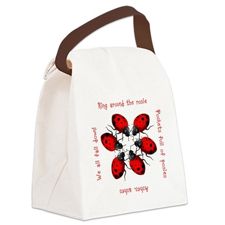 ladybug3.png Canvas Lunch Bag