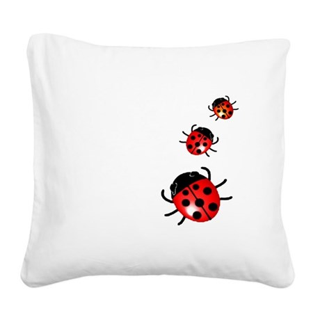 Ladybugs Square Canvas Pillow