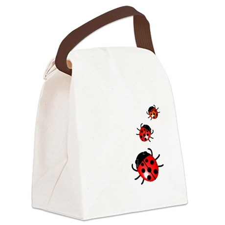 Ladybugs Canvas Lunch Bag