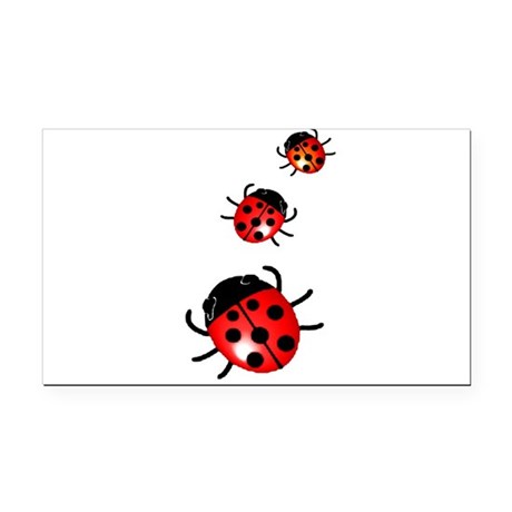 Ladybugs Rectangle Car Magnet