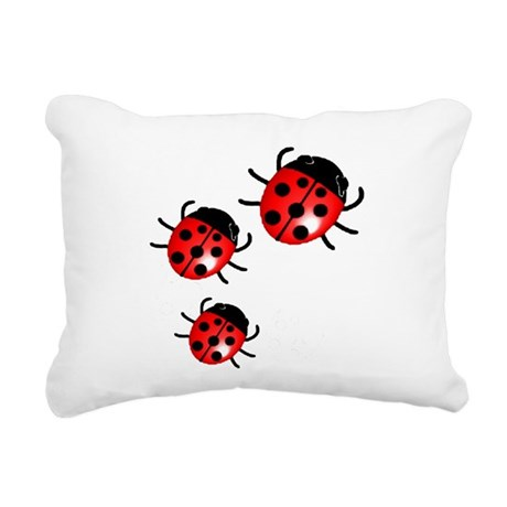 Ladybugs Rectangular Canvas Pillow