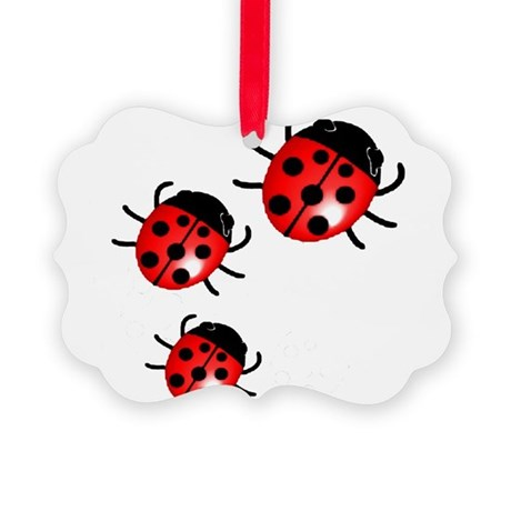 Ladybugs Picture Ornament