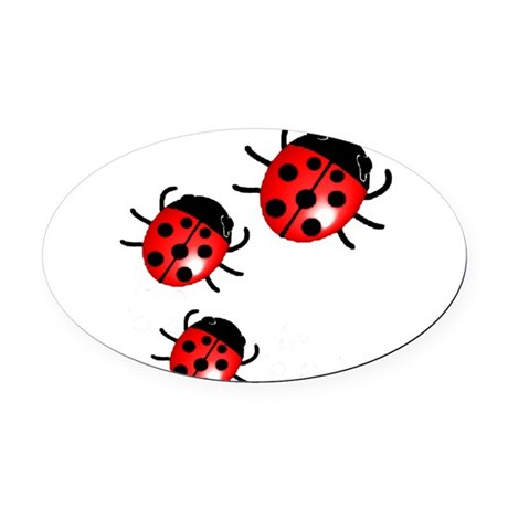 Ladybugs Oval Car Magnet