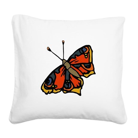 butterflyrustic2.png Square Canvas Pillow