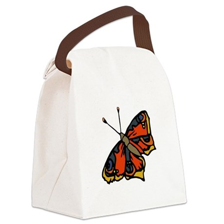 butterflyrustic2.png Canvas Lunch Bag