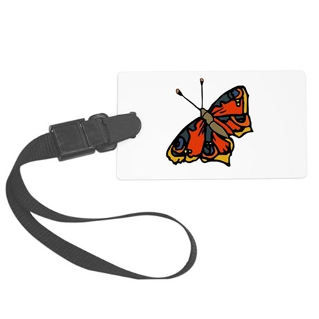 butterflyrustic2.png Large Luggage Tag