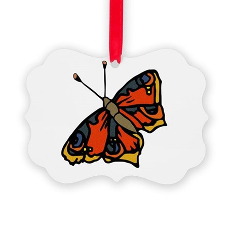 butterflyrustic2.png Picture Ornament