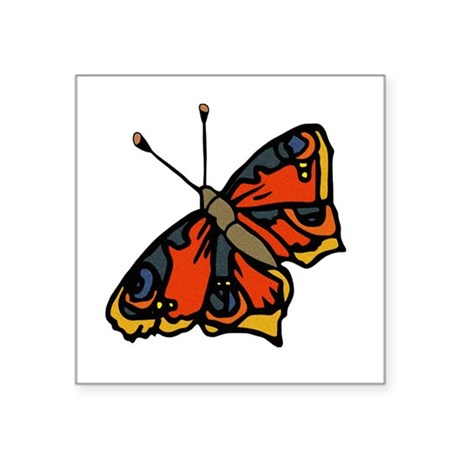"butterflyrustic2.png Square Sticker 3"" x 3"""