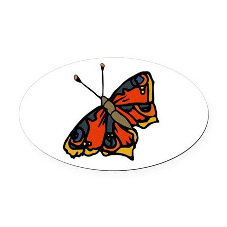 butterflyrustic2.png Oval Car Magnet