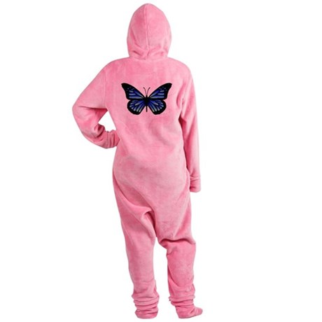 Blue Butterfly Footed Pajamas