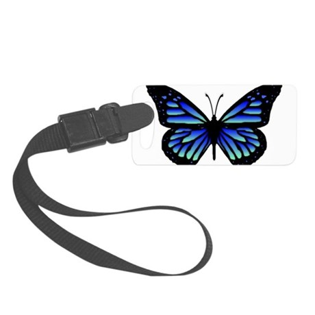 Blue Butterfly Small Luggage Tag