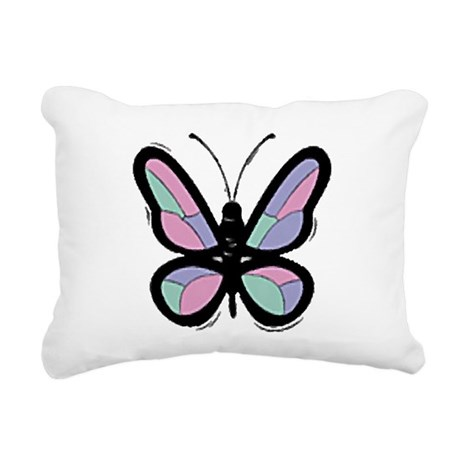 Big Butterfly Rectangular Canvas Pillow