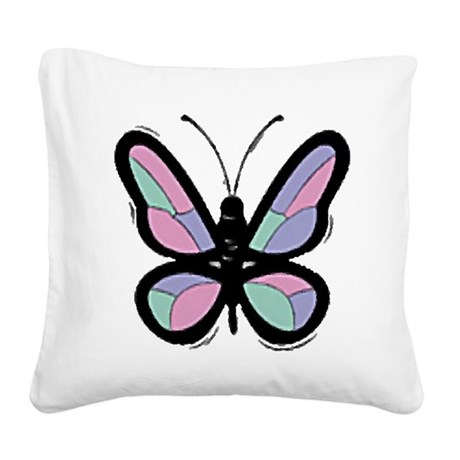 Big Butterfly Square Canvas Pillow