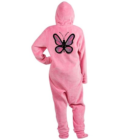 Big Butterfly Footed Pajamas