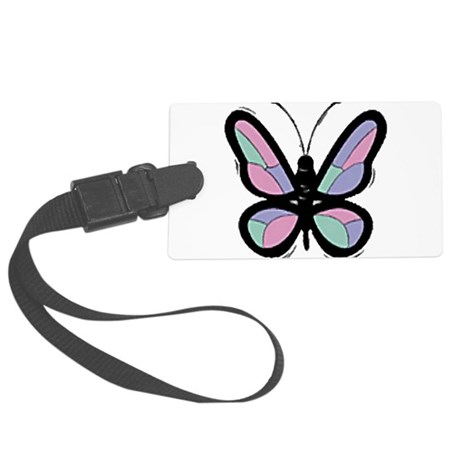 Big Butterfly Large Luggage Tag