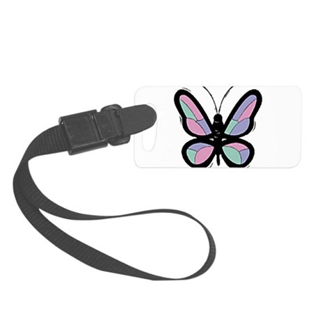 Big Butterfly Small Luggage Tag