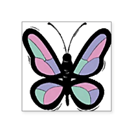 Big Butterfly Square Sticker 3&quot; x 3&quot;