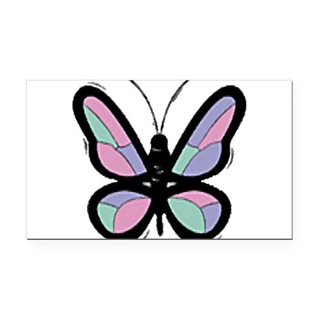 Big Butterfly Rectangle Car Magnet