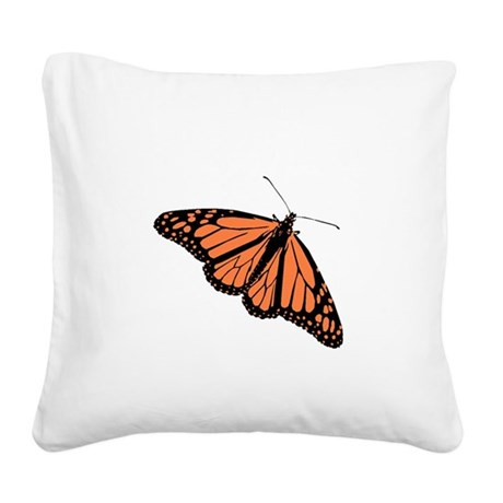Monarch Butterfly Square Canvas Pillow