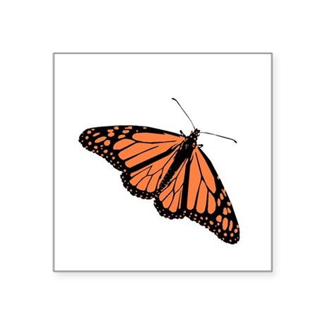 Monarch Butterfly Square Sticker 3&quot; x 3&quot;