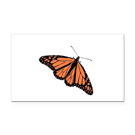 Monarch Butterfly Rectangle Car Magnet