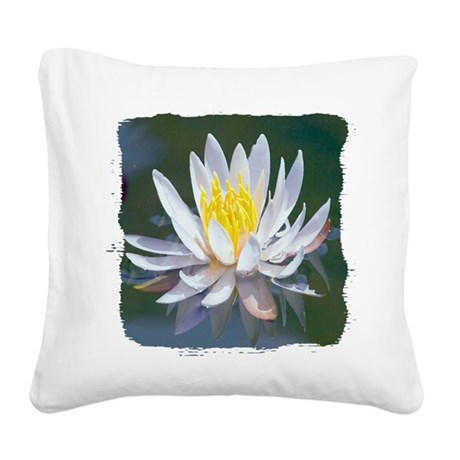 lotus Square Canvas Pillow