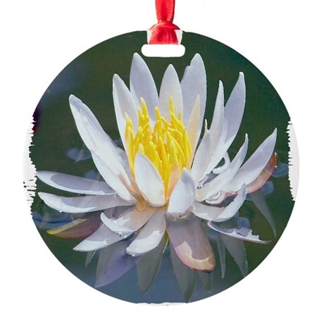lotus Round Ornament