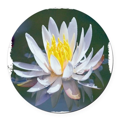 lotus Round Car Magnet