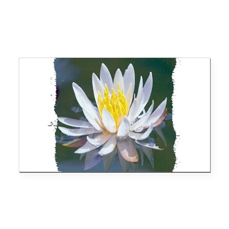 lotus Rectangle Car Magnet