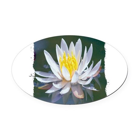 lotus Oval Car Magnet