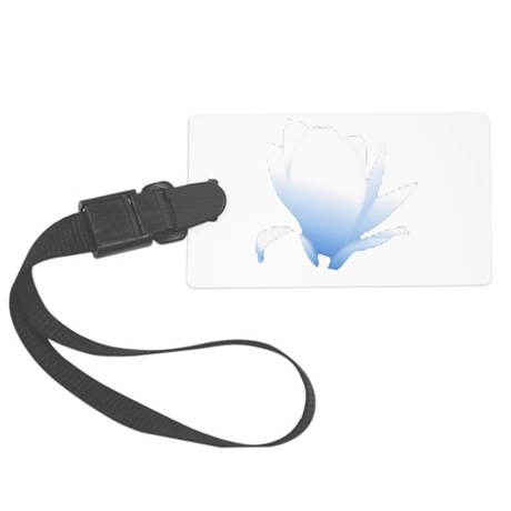flower blue Large Luggage Tag