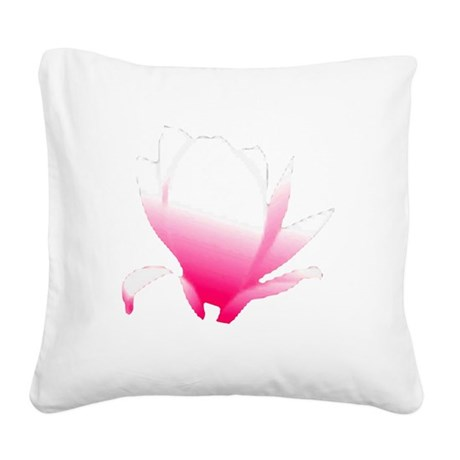 pink lotus flower Square Canvas Pillow