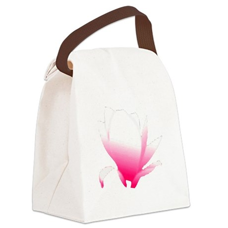 pink lotus flower Canvas Lunch Bag