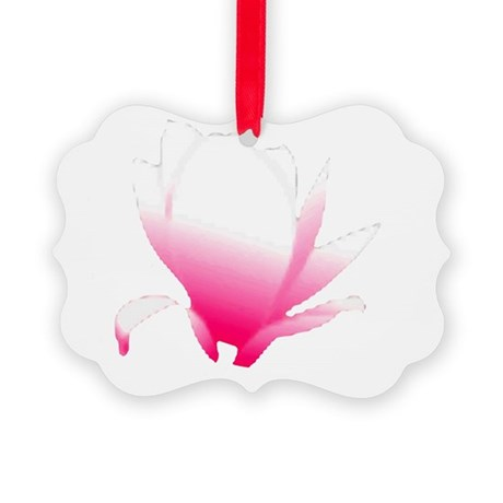 pink lotus flower Picture Ornament