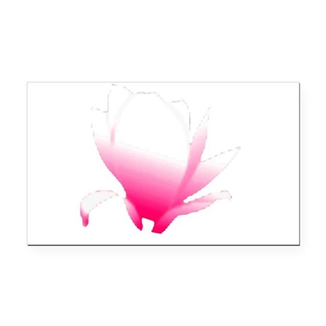 pink lotus flower Rectangle Car Magnet