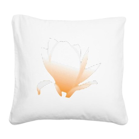 orange lotus flower Square Canvas Pillow