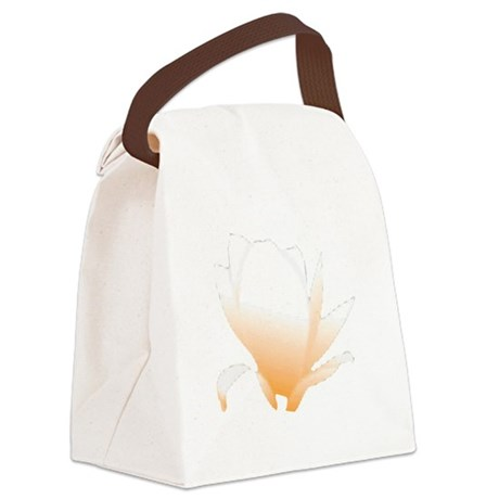 orange lotus flower Canvas Lunch Bag