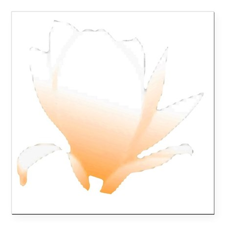"orange lotus flower Square Car Magnet 3"" x 3"""