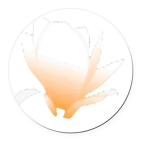 orange lotus flower Round Car Magnet